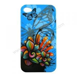 coque iphone 4 motif fleur papillon