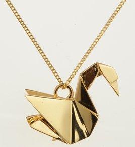 pendentif cygne origami